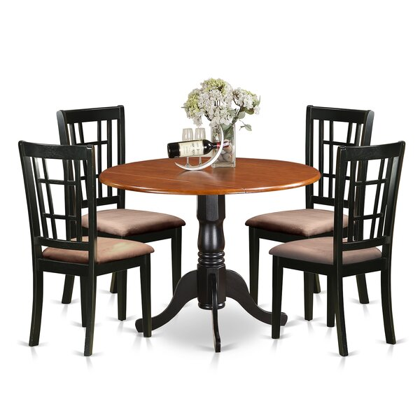 5 Piece Extendable Dining Set by East West Furniture