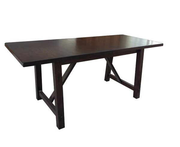 Alexandria Extendable Oak Solid Wood Dining Table by Loon Peak Loon Peak