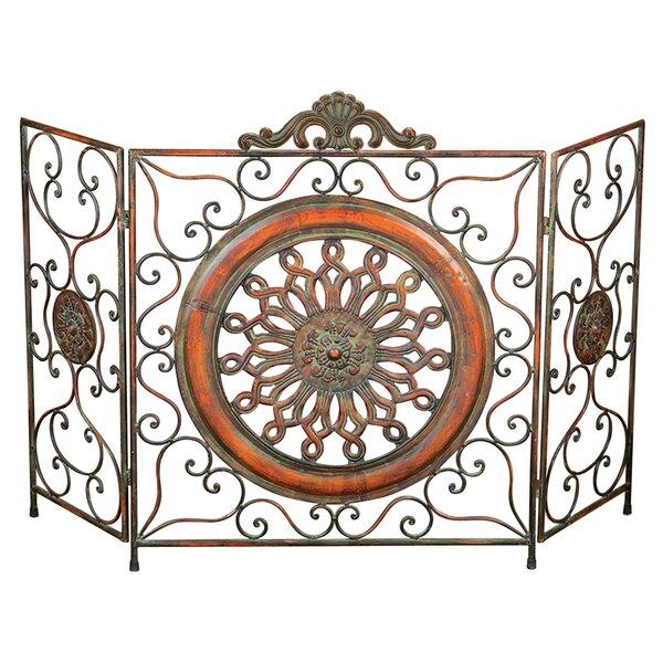 3 Panel Metal Fireplace Screen By UMA Enterprises