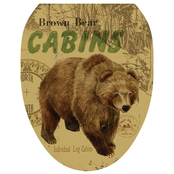 Bear Lodge Toilet Seat Decal by Toilet Tattoos