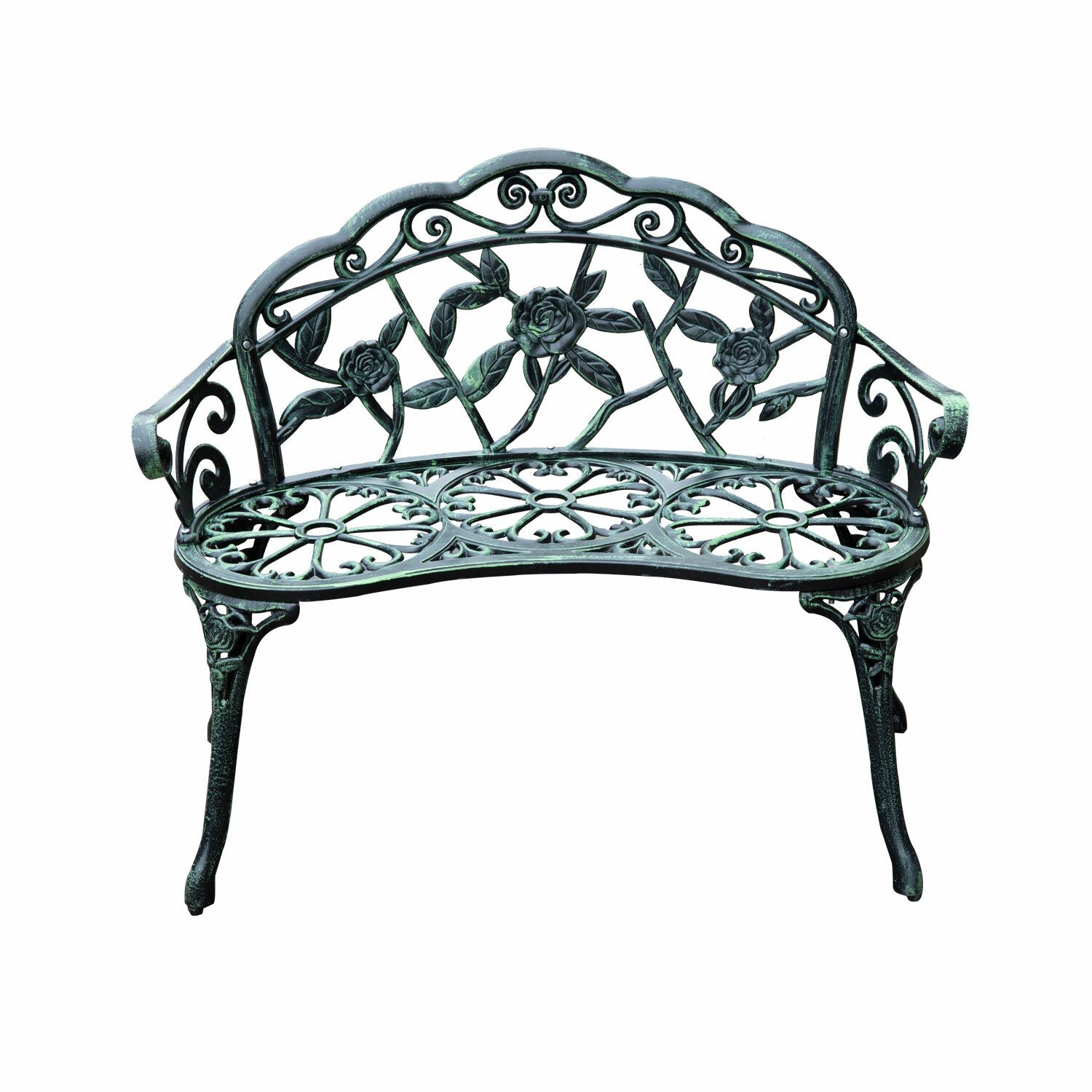 Astoria Grand Asheville Antique Outdoor Patio Metal Garden Bench U0026 Reviews  | Wayfair