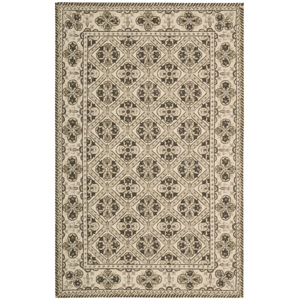 Ehrenfeld Hand-Hooked Brown Area Rug by Darby Home Co
