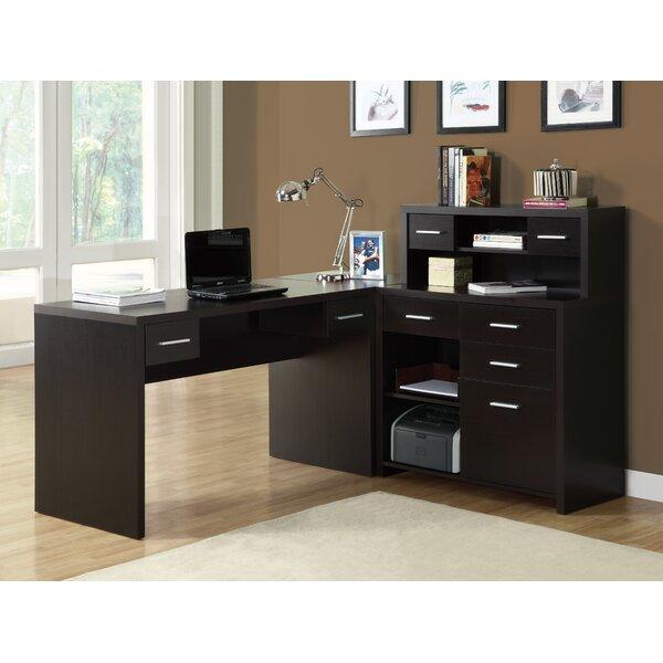 Home Office L Shaped Desk brayden studio covey home office l-shaped computer desk with hutch