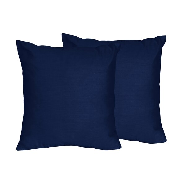 Chevron Solid Navy Blue Throw Pillows (Set of 2) by Sweet Jojo Designs