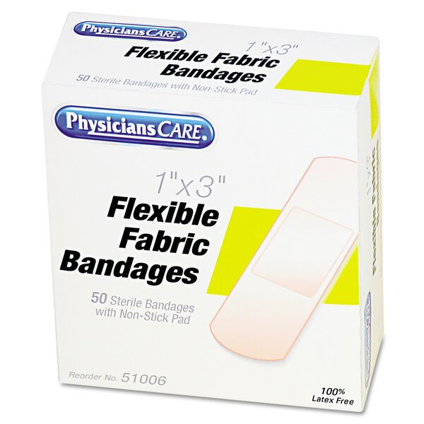 Physicianscare First Aid Fabric Bandages, Box of 50 by Acme United Corporation
