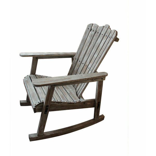 Kenton Wood Rocker Adirondack Chair by Rosecliff Heights