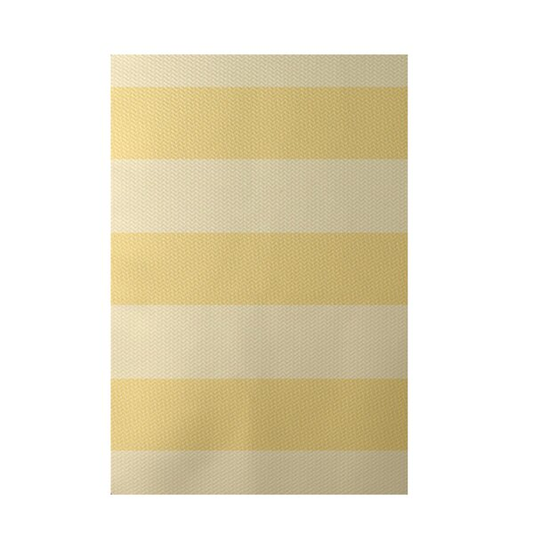 Stripe Yellow Indoor/Outdoor Area Rug by e by design