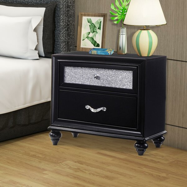 Broadnax Wooden 2 Drawer Nightstand by House of Hampton