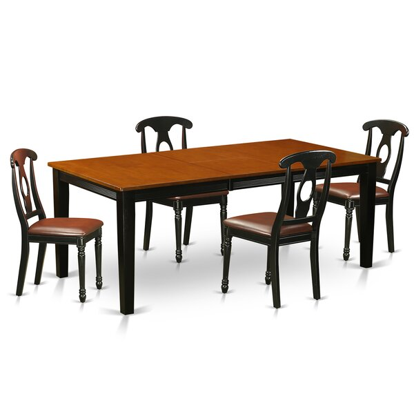 Pilger Modern 5 Piece Wood Dining Set by August Grove