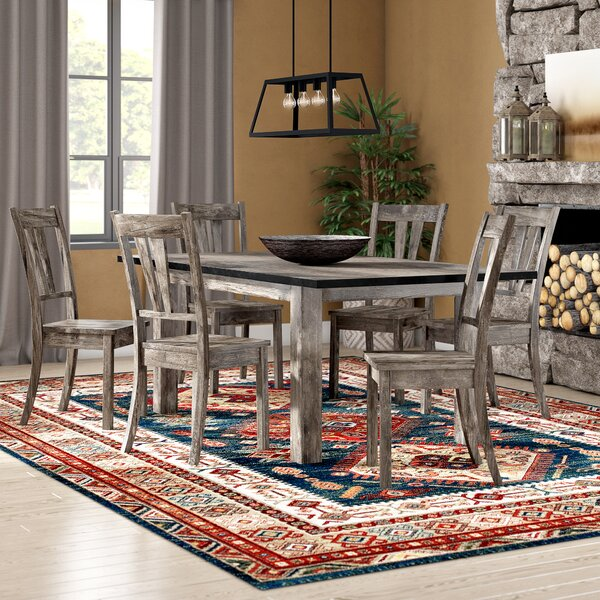 Sanda 7 Piece Wood Dining Set by Union Rustic