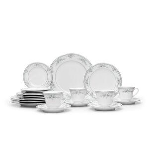 Sweet Leilani 20 Piece Dinnerware Set, Service for 4