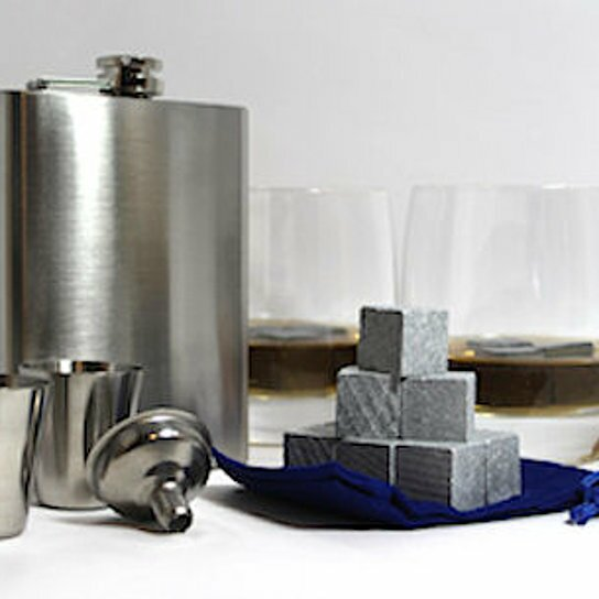 Kugler 10 Piece Whiskey Stones and Flask Gift Set by Symple Stuff
