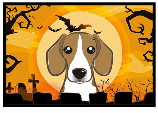 Halloween Beagle Doormat by Caroline's Treasures