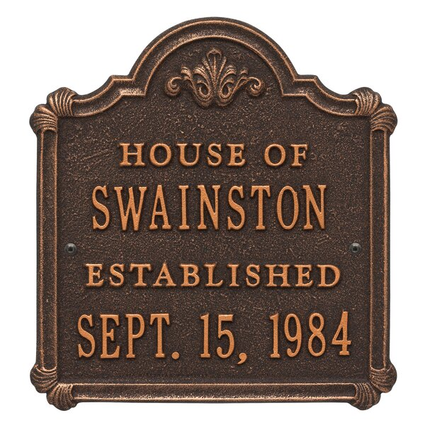 Chatham 4-Line Wall Address Plaque by Whitehall Products
