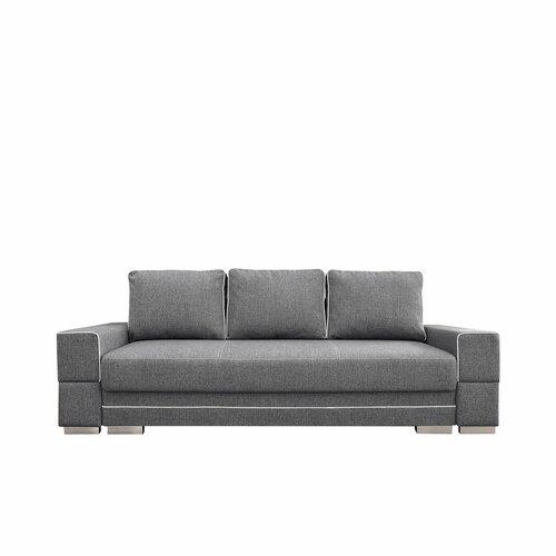 Schlafsofa Flodin Ebern Designs Polsterfarbe: Hellgrau/Weiß | Wohnzimmer > Sofas & Couches > Schlafsofas | Ebern Designs