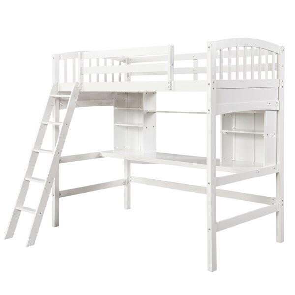Euart Twin Loft Bed by Harriet Bee