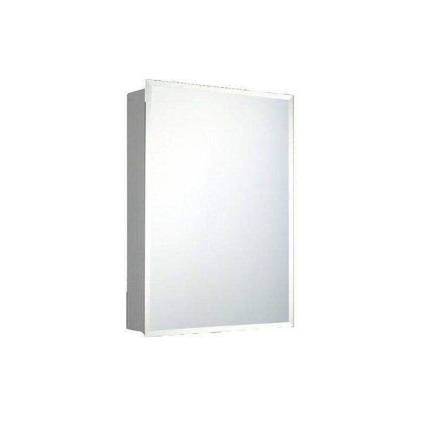 Ozella Surface Mount Frameless Medicine Cabinet with 3 Adjustable Shelves