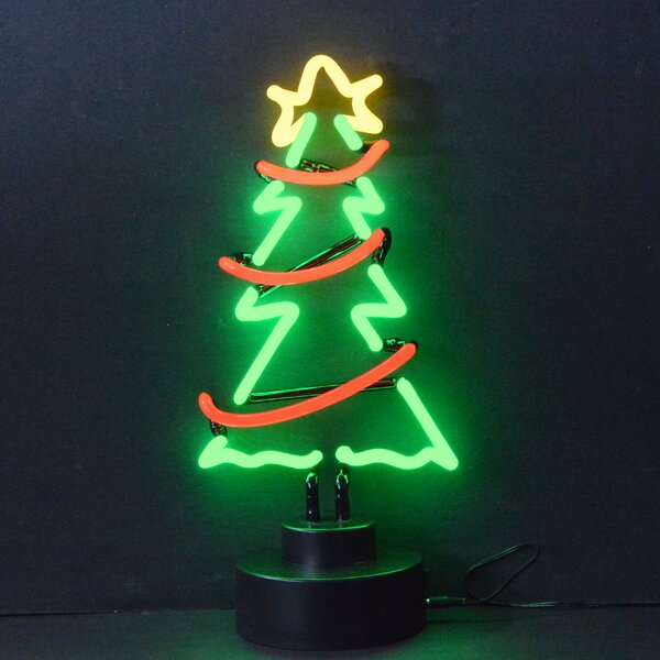 Christmas Tree with Garland Neon Sculpture by Neonetics