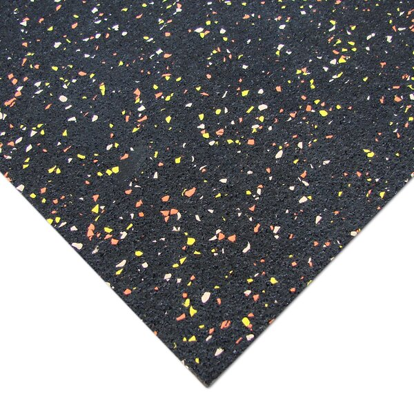 Elephant Bark 144 Recycled Rubber Flooring Roll by Rubber-Cal, Inc.