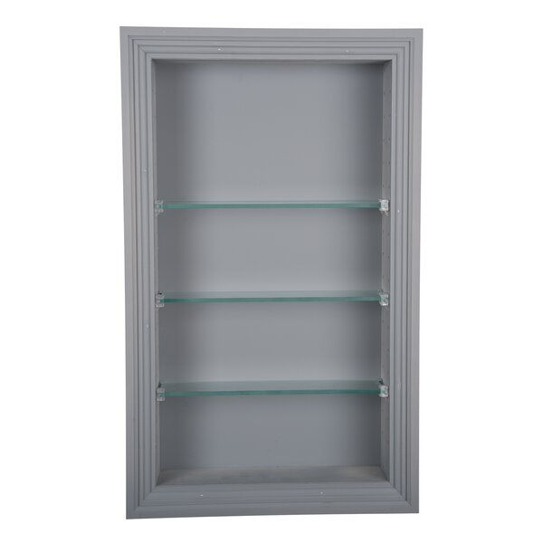 Newberry 14 W x 34 H Recessed Shelving by WG Wood Products