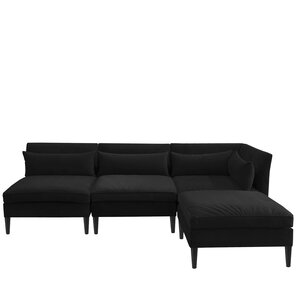 Alayna Modular Sectional  sc 1 st  AllModern : black sectional sofa - Sectionals, Sofas & Couches