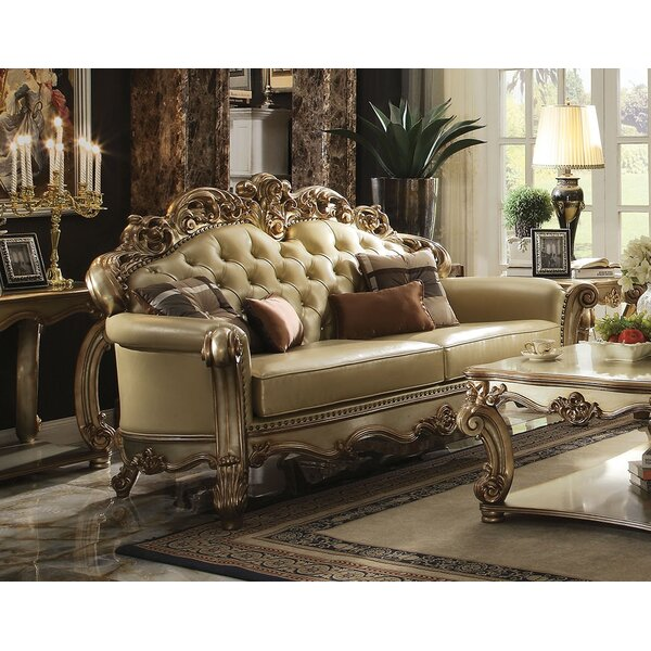Mccarroll Wood Frame Sofa with 4 Pillow by Astoria Grand