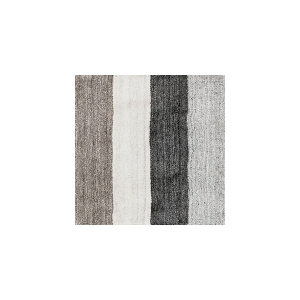 Nugent Hand-Loomed Ivory/Charcoal Area Rug by Ebern Designs