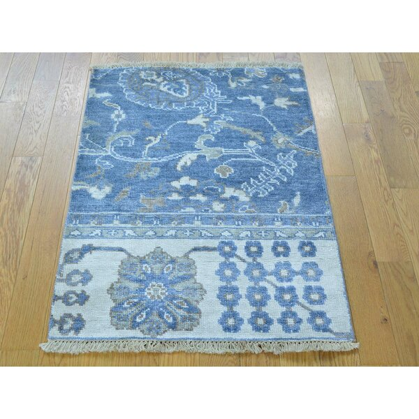 One-of-a-Kind Bearer Hand-Knotted Wool/Silk Area Rug by Isabelline