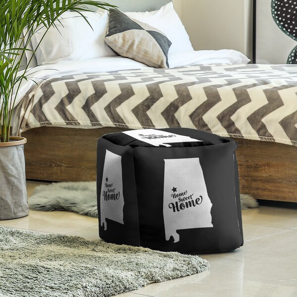 Home Sweet Tuscaloosa Cube Ottoman By East Urban Home