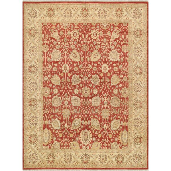 Ferehan Hand-Knotted Rust Area Rug by Pasargad