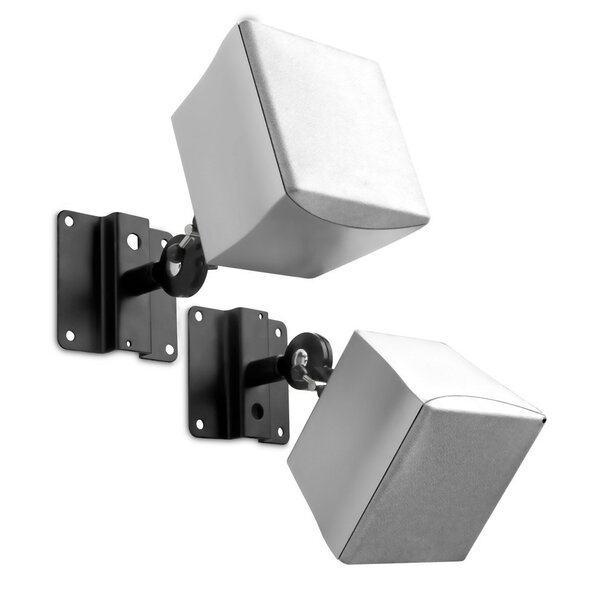 Adjustable Satellite Universal Wall/Ceiling Speaker Mount (Set of 2) by Mount-it
