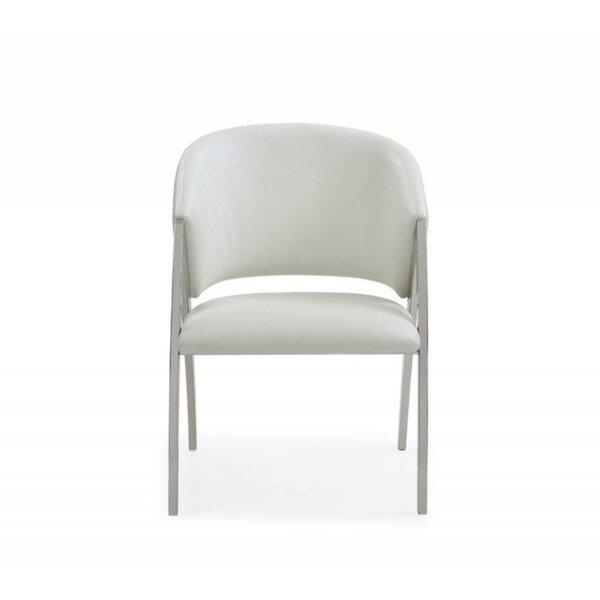 Cloninger Leatherette Upholstered Wooden Armchair by Orren Ellis