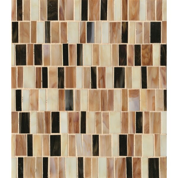 Kailua Random Sized Glass Mosaic Tile in Reed by Grayson Martin