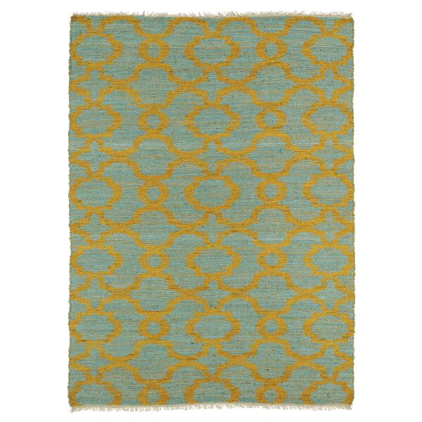 Saint-Joseph Orange/Turquoise Area Rug by Bungalow Rose