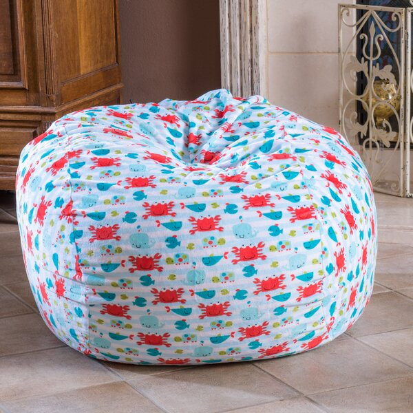 Fabric Bean Bag Chair by Harriet Bee
