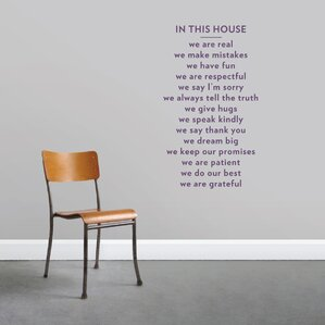 In This House Wall Decal Part 42