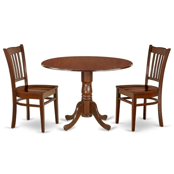 Brennon 3 Piece Drop Leaf Solid Wood Dining Set by Darby Home Co Darby Home Co