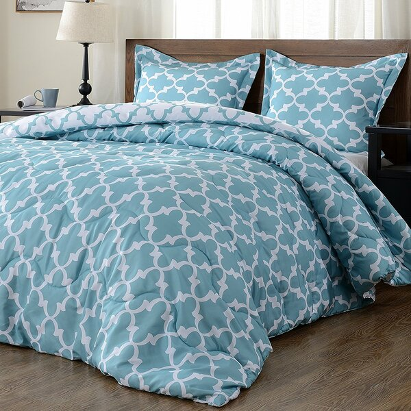 Manzella Lightweight Printed Hypoallergenic Down Alternative Reversible Comforter by Winston Porter