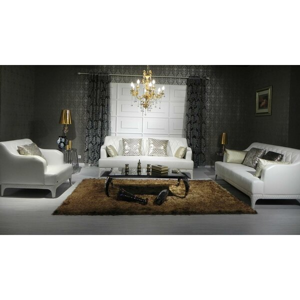 Cana 3 Piece Leather Living Room Set by Orren Ellis