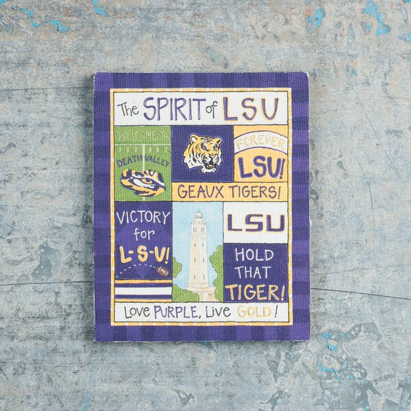 LSU Spirit Magnet Vintage Advertisement on Canvas by Glory Haus
