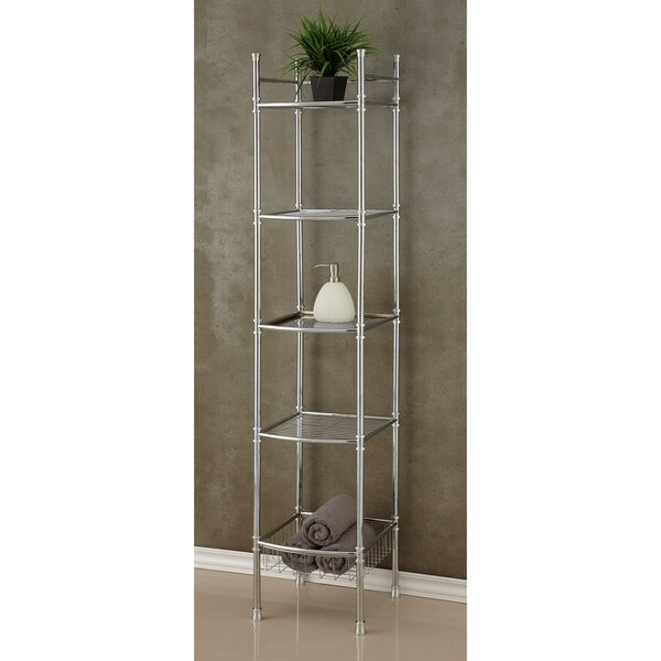 12.75 W x 63 H Bathroom Shelf by BEST LIVING INC