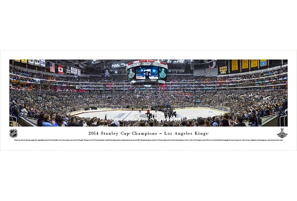 NHL 2014 Stanley Cup Champions - Los Angeles Kings by Christopher Gjevre Photographic Print by Blakeway Worldwide Panoramas, Inc