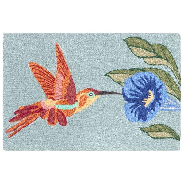 Ismay Hummingbird Blue Indoor/Outdoor Area Rug by August Grove