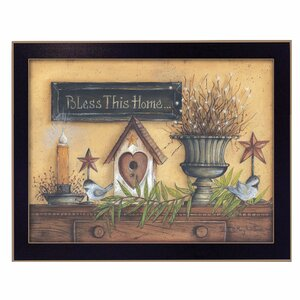 'Bless This Home' Framed Graphic Art Print by Trendy Decor 4U