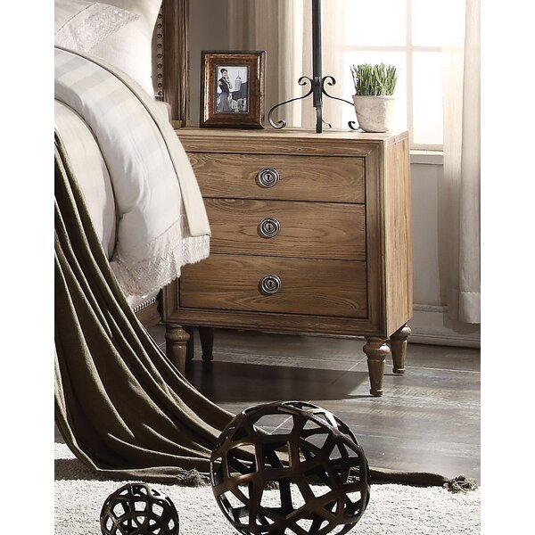 Caudell 3 Drawer Nightstand by Gracie Oaks