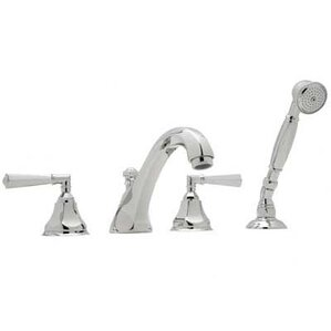 Rohl A1904LM Palladian Roman Tub Faucet With Single Function Hand Shower  And Metal Lever Handles