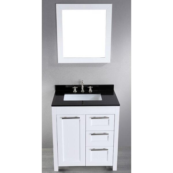 Hopewell 30 Single Bathroom Vanity Set with Mirror by Brayden Studio