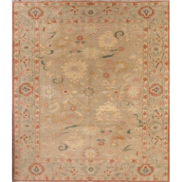 One-of-a-Kind Moncada Oushak Egypt Oriental Hand-Knotted Wool Green Area Rug by August Grove