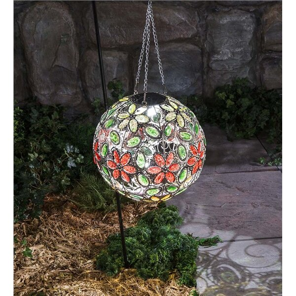 Hanging Solar Flower Jewel Ball Gazing Globe by Plow & Hearth