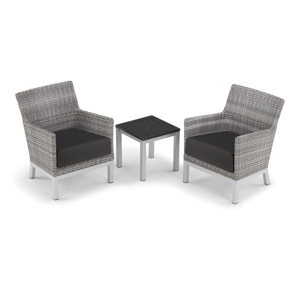 Saleem 3 Piece Seating Group with Cushions by Brayden Studio Brayden Studio